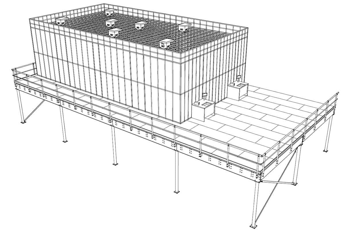 Almacon - oplossingen - autostore vloer